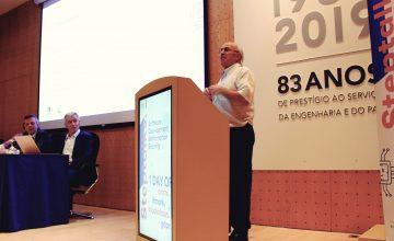 Vasco Lagarto (TICE.PT), expõe a importância da certificação e da internacionalização das atuais empresas durante a conferência Steptalks.